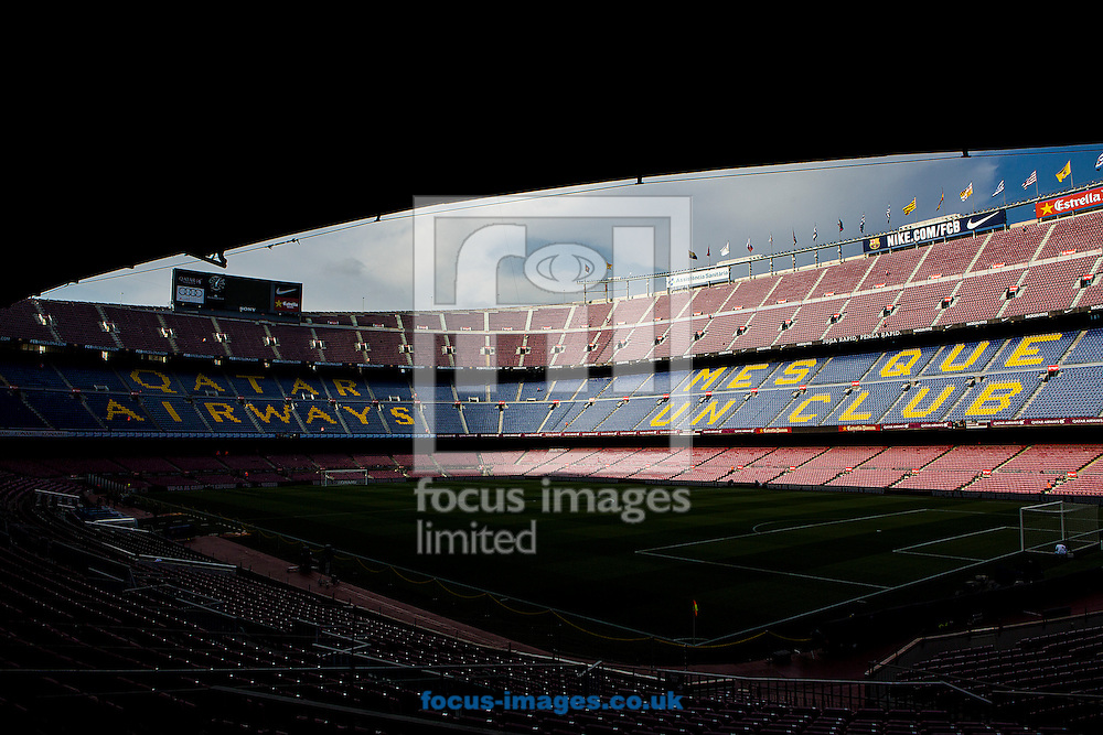 General view of FC Barcelona's stadium Camp Nou before the La Liga match between FC Barcelona and Alaves, Barcelona<br /> Picture by Luis Tato/Focus Images Ltd (+34) 661 459 33<br /> 10/09/2016
