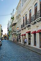 Calle Cristo cobblestoned streets and Spanish colonial architecture