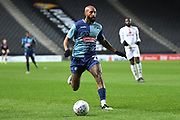 Wycombe Wanderers forward Josh Parker (27) sprints forward with the ball during the EFL Trophy match between Milton Keynes Dons and Wycombe Wanderers at stadium:mk, Milton Keynes, England on 12 November 2019.