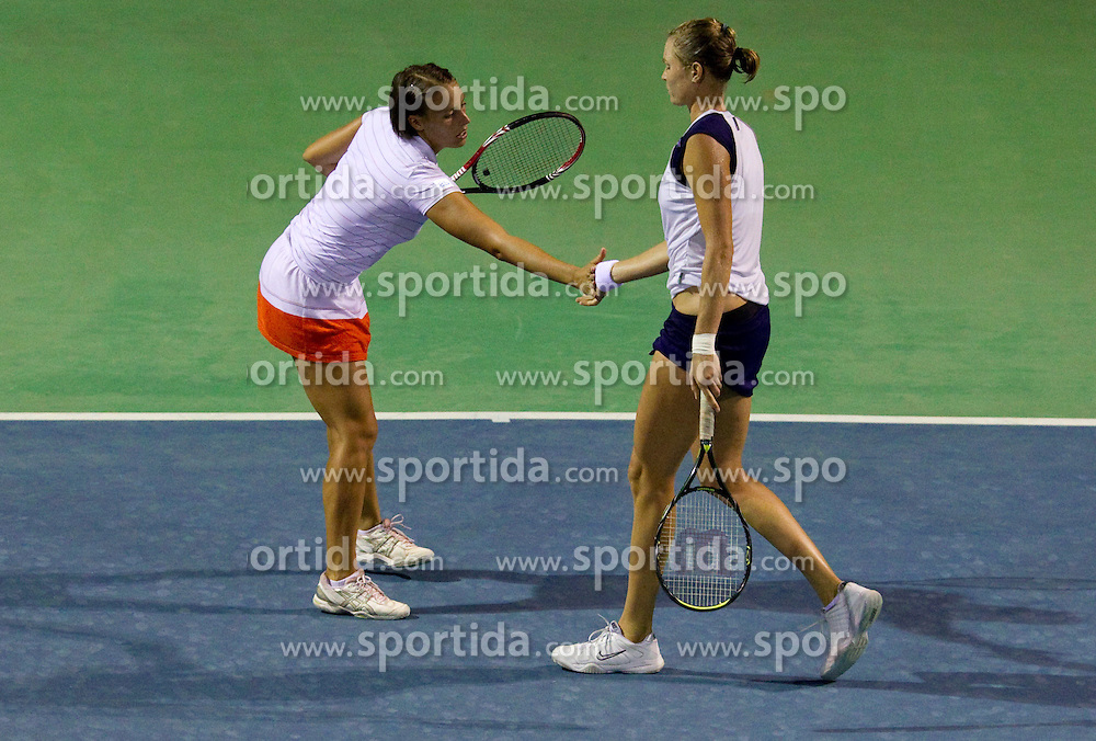 Andreja Klepac of Slovenia and Elena Bovina of Russia at 2nd Round of Doubles at Banka Koper Slovenia Open WTA Tour tennis tournament, on July 22, 2010 in Portoroz / Portorose, Slovenia. (Photo by Vid Ponikvar / Sportida)
