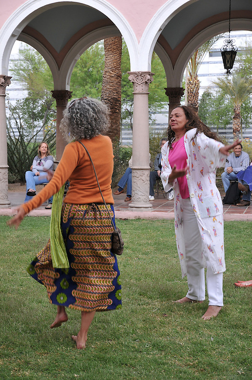Rainstorm dancers at Courtyard Stage, 2010 Tucson Folk Festival. Event photography by Martha Retallick.