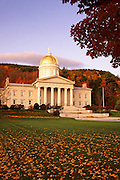 Image of the State Capitol in Montpelier, Vermont, American Northeast