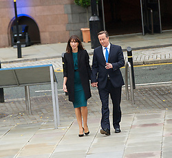 David Cameron Keynote Speech. <br /> David Cameron and wife Samantha Cameron arriving before his keynote speech to the Conservative Party Conference, Manchester, United Kingdom. Wednesday, 2nd October 2013. Picture by Elliott Franks / i-Images