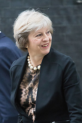 Downing Street, London, July 5th 2016. Home Secretary Theresa May arrives at 10 Downing Street for the weekly cabinet meeting