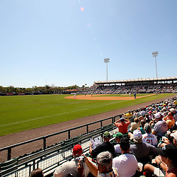 March 14, 2011; Sarasota, FL, USA; A general view during a spring training exhibition game against the Pittsburgh Pirates at Ed Smith Stadium.   Mandatory Credit: Derick E. Hingle