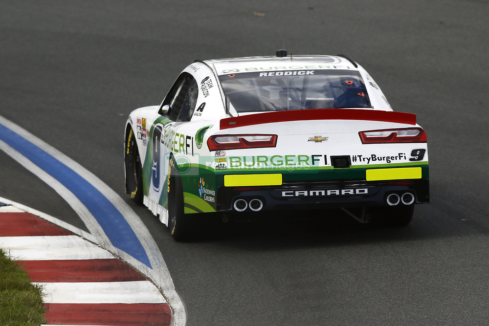 September 27, 2018 - Concord, North Carolina, United States of America - Tyler Reddick (9) races through the turns during practice for the Drive for the Cure 200 at Charlotte Motor Speedway in Concord, North Carolina. (Credit Image: © Chris Owens Asp Inc/ASP via ZUMA Wire)