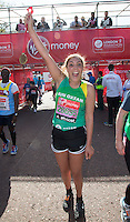 Miquita Oliver, TV and radio presenter at the end of the Virgin Money London Marathon 2014 on Sunday 13 April 2014<br /> Photo: Roger Allan/Virgin Money London Marathon<br /> media@london-marathon.co.uk