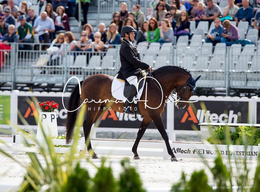 Patricio Guglialmelli Lynch, (ARG), Zizifo Interagro - Team Competition Grade III Para Dressage - Alltech FEI World Equestrian Games&trade; 2014 - Normandy, France.<br /> &copy; Hippo Foto Team - Jon Stroud <br /> 25/06/14