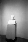 07/06/1964<br /> 06/07/1964<br /> 07 June 1964<br /> Bust of President Kennedy unveiled at the American Embassy, Dublin. A bust of the late President John F. Kennedy was unveiled by Mrs Ted Sorensen, in the presence of the retiring American Ambassador to Ireland, Mr. Matthew McCluskey. The bust was set in the main hall of the new United States Embassy, Ballsbridge. Mrs Sorensen was the four day bride of Mr. Ted Sorensen, who was a special aide to the late President. Picture shows the bust in place.