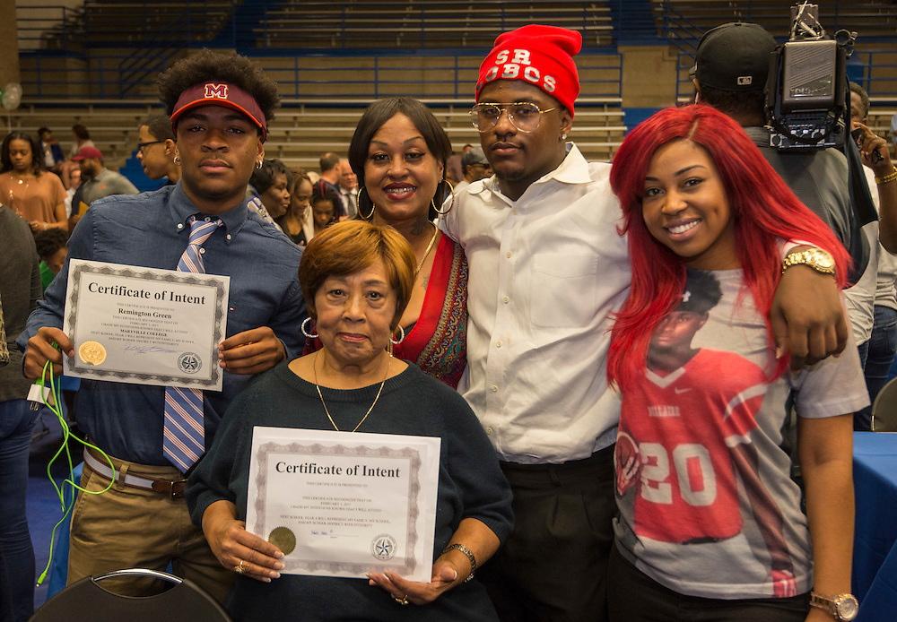 Athletic Signing Day at the Pavilion, February 1, 2017.