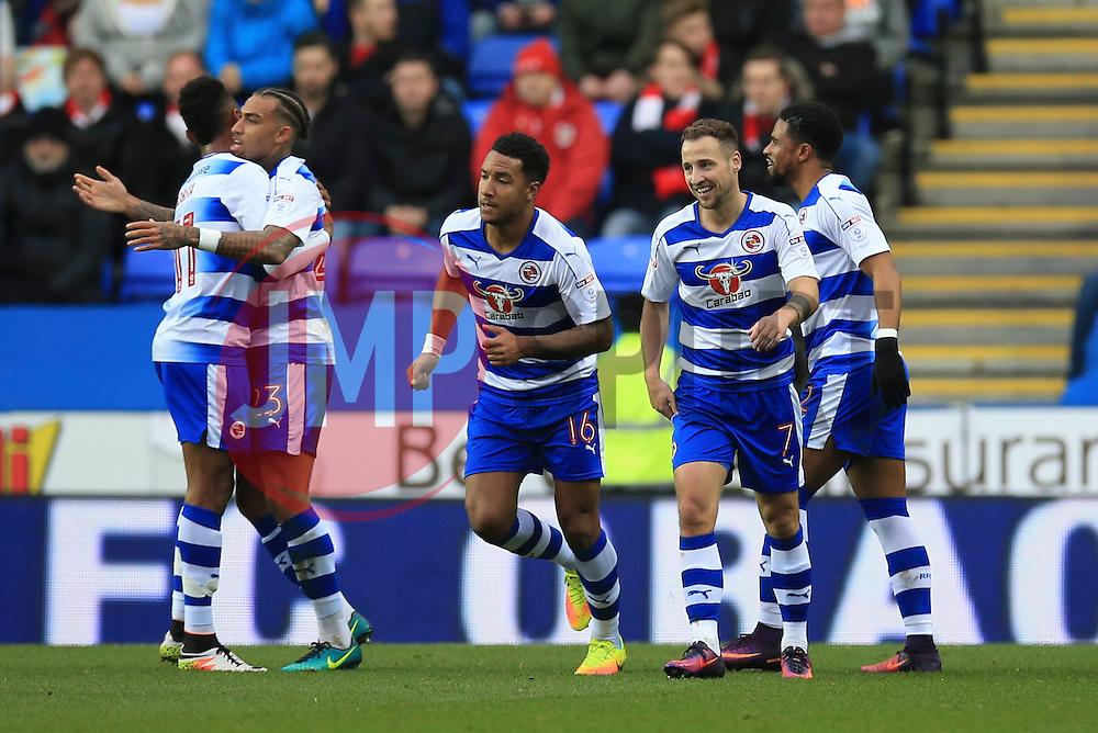 Goal, Roy Beerens of Reading scores, Reading 1-0 Bristol City - Mandatory by-line: Jason Brown/JMP - 26/11/2016 - FOOTBALL - Madejski Stadium - Reading, England - Reading v Bristol City - Sky Bet Championship