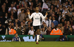Ryan Sessegnon of Fulham celebrates after scoring to make it 1-0 - Mandatory by-line: Paul Terry/JMP - 14/05/2018 - FOOTBALL - Craven Cottage - Fulham, England - Fulham v Derby County - Sky Bet Championship Play-off Semi-Final