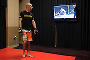 "Donald ""Cowboy"" Cerrone warms up backstage before his fight against John Makdessi during UFC 187 at the MGM Grand in Las Vegas, Nevada on May 23, 2015. (Cooper Neill)"