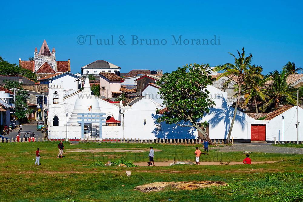 Sri Lanka, province du sud, district de Galle, Galle, Vieille ville classée patrimoine mondial de l'UNESCO // Sri Lanka, Southern Province, South Coast beach, Galle, old town, Dutch fort, UNESCO World Heritage site