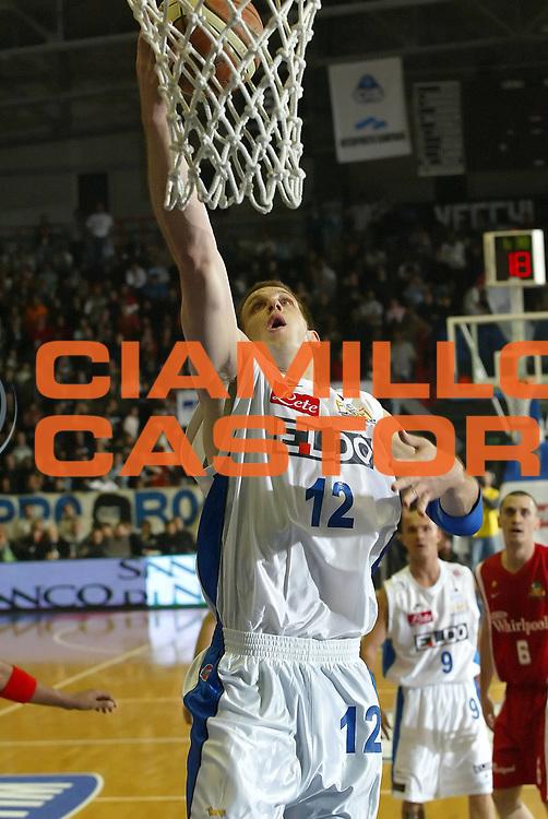 DESCRIZIONE : Napoli Lega A1 2006-07 Eldo Napoli Whirlpool Varese <br /> GIOCATORE : Rocca<br /> SQUADRA : Eldo Napoli<br /> EVENTO : Campionato Lega A1 2006-2007 <br /> GARA : Eldo Napoli Whirlpool Varese <br /> DATA : 26/11/2006 <br /> CATEGORIA : Tiro<br /> SPORT : Pallacanestro <br /> AUTORE : Agenzia Ciamillo-Castoria/A.De Lise <br /> Galleria : Lega Basket A1 2006-2007 <br /> Fotonotizia : Napoli Campionato Italiano Lega A1 2006-2007 Eldo Napoli Whirlpool Varese <br /> Predefinita :