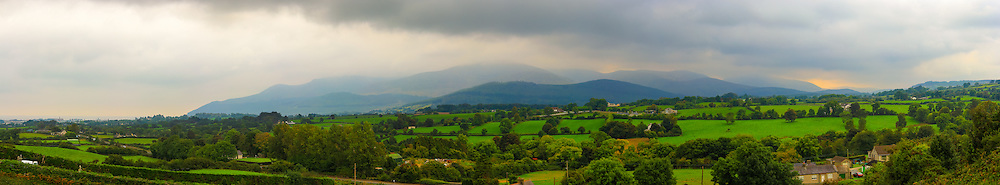View overlooking Newcastle and the Mournes from nearby Drumee Cemetery just off the A50.
