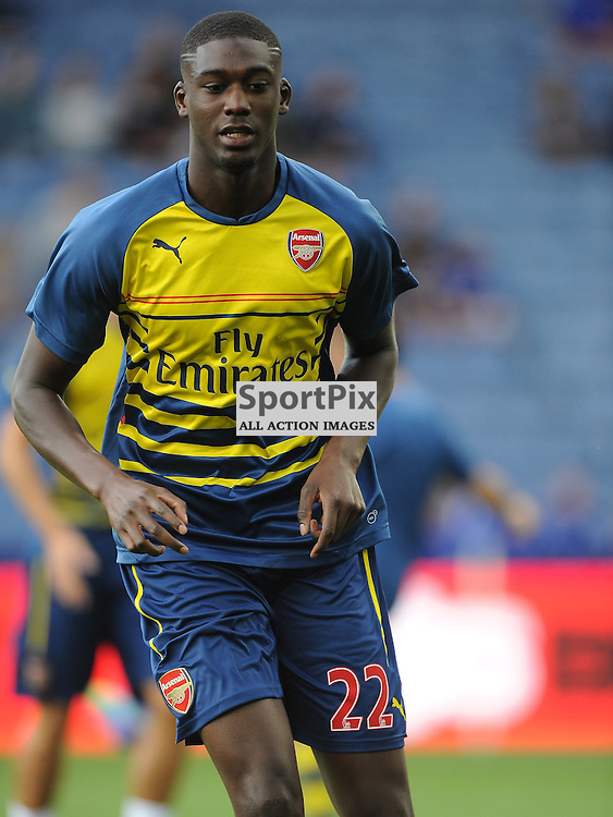 Yaya Sanogo, Arsenal, Leicester City v Arsenal, Premiership, King Power Stadium, Leicester, Sunday 31st  August 2014Leicester City v Arsenal, Premiership, King Power Stadium, Leicester, Sunday 31st  August 2014