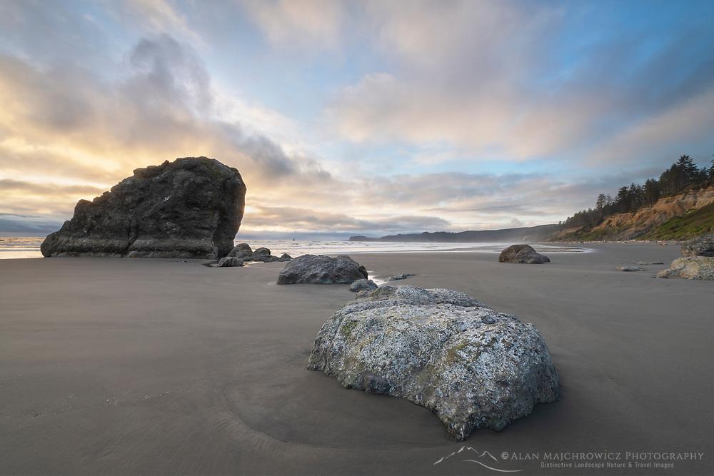 Rialto Beach  afterglow Olympic National Park Washington