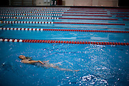 (Cambridge, MA - May 20, 2008) - Harvard University senior Beth Kolbe, a member of the women's swim team  at Blodgett pool.  Kolbe is in training for the 2008 ParaOlympics in China, and will attend Stanford Law after that. Staff Photo Justin Ide/Harvard University News Office