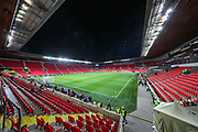 General view inside the Sinobo stadium ahead of the UEFA European 2020 Qualifier match between Czech Republic and England at Sinobo Stadium, Prague, Czech Republic on 11 October 2019.