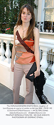 The HON.ALEXANDRA KNATCHBULL daughter of Lord Romsey, at a party in London on 6th July 2004.PWW 143