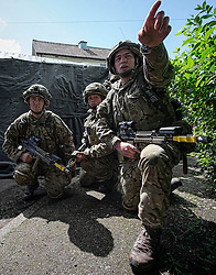 Image shows Officer Cadets from Royal Military Academy Sandhurst (RMAS) participating in Exercise Templar's Triumph on Longmoor Training Area.<br /> <br /> 21/06/2016<br /> Credit should read: Cpl Mark Larner RY<br /> <br /> Exercise Templar's Triumph is the second of three accumulative confirmation exercises of the 44 week commissioning course; it tests the cadets suitability to become junior officers in the field army. The skills and drills the Officer Cadets have learned over the previous terms are brought together, forcing the cadets to work in an arduous environment whislt thinking about more than just basic soldiering.