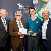 27.04.2016.          <br />  Kalin Foy and Ciara Coyle win SciFest@LIT<br /> Kalin Foy and Ciara Coyle from Colaiste Chiarain Croom to represent Limerick at Ireland's largest science competition.<br /> <br /> Kilrush Community School student, Cathal Keane's project, Reducing CO2 emissions using enzymes, won Biopharmachemical Ireland Chemistry award.  Cathal Keane is pictured with George Porter, SciFest, Pacal Meehan, LIT and Brian Aherne, Intel.<br /> <br /> Of the over 110 projects exhibited at SciFest@LIT 2016, the top prize on the day went to Kalin Foy and Ciara Coyle from Colaiste Chiarain Croom for their project, 'To design and manufacture wireless trailer lights'. The runner-up prize went to a team from John the Baptist Community School, Hospital with their project on 'Educating the Youth of Ireland about Farm Safety'.  Picture: Alan Place