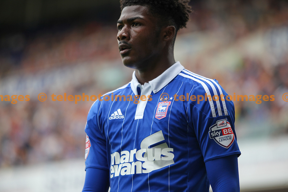 Ainsley Maitland-Niles of Ipswich Town during the Sky Bet Championship match between Ipswich Town and Brighton and Hove Albion at Portman Road in Ipswich. August 29, 2015.<br /> Arron Gent / Telephoto Images<br /> +44 7967 642437