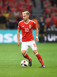 Aaron Ramsey of Wales  - Mandatory by-line: Joe Meredith/JMP - 01/07/2016 - FOOTBALL - Stade Pierre Mauroy - Lille, France - Wales v Belgium - UEFA European Championship quarter final
