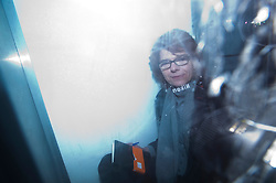 © London News Pictures. 11/03/2013 . London, UK.  VICKY PRYCE leaving court in a prison van after she was sentenced to 8 months in prison for perverting the course of justice. Vicky Pryce admitted accepting penalty points incurred by her former husband and disgraced MP Chris Huhne in 2003. Photo credit : Ben Cawthra/LNP