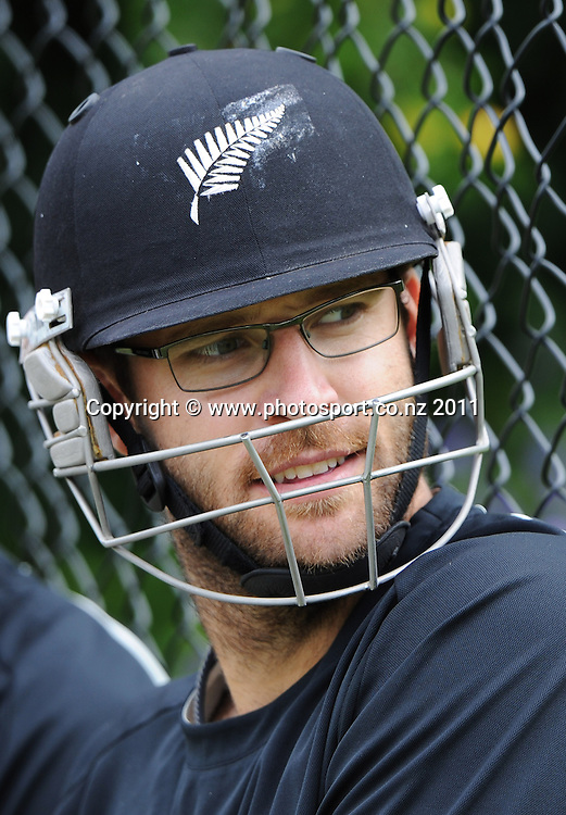 Daniel Vettori at training ahead of the second cricket test match versus Australia in Hobart. Wednesday 7 December 2011. Photo: Andrew Cornaga/Photosport.co.nz