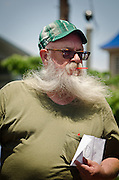 Pitman's Tom Smyth, an award winner, at the 1st Uptown Pitman Beard & Moustache Competition.