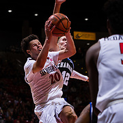 01 November 2018: The San Diego State Aztecs men's basketball beat Chaminade 68-63 in an exhibition game Thursday night at Viejas Arena.<br /> More game action at sdsuaztecphotos.com