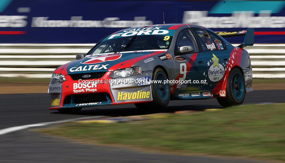 Caltex Racing's Russell Ingall in action during Race 2 at the Placemaker V8 Supercars in Pukekohe, New Zealand, on Sunday 22 April 2007. Toll HSV Dealer Team's Garth Tanner won race 2. Photo: Michael Bradley/PHOTOSPORT