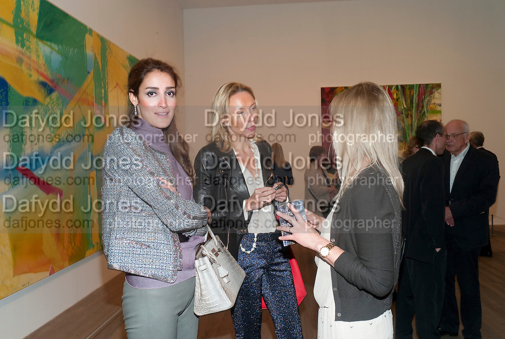 YASSMINE GHANDEHAEI,; michaela de pury; LADY HELEN TAYLOR, Gerhard Richter: Panorama. Tate Modern. London. 4 October 2011. <br /> <br />  , -DO NOT ARCHIVE-© Copyright Photograph by Dafydd Jones. 248 Clapham Rd. London SW9 0PZ. Tel 0207 820 0771. www.dafjones.com.