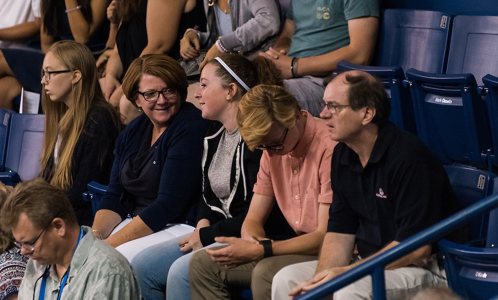 The incoming class of 2020 and their families convened in their last mass together before saying goodbye at Gonzaga University on August 28th, 2016 in the McCarthey Athletic Center. (Photo by Edward Bell)