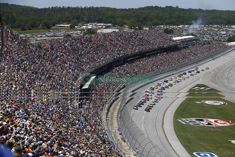 April 29, 2018 - Talladega, Alabama, United States of America - Kevin Harvick (4) and Kurt Busch (41) lead the field to the start of the GEICO 500 at Talladega Superspeedway in Talladega, Alabama. (Credit Image: © Chris Owens Asp Inc/ASP via ZUMA Wire)