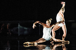 © Licensed to London News Pictures. 16/10/2012. London, UK. Sadler's Wells Theatre, London. Rambert Dance Company: Autumn Season. ..Picture shows: Labyrinth of Love, choreographed by Marguerite Donlan. Dancers: Julia Gillespie & Pieter Symmonds. Photo credit: Tony Nandi/LNP