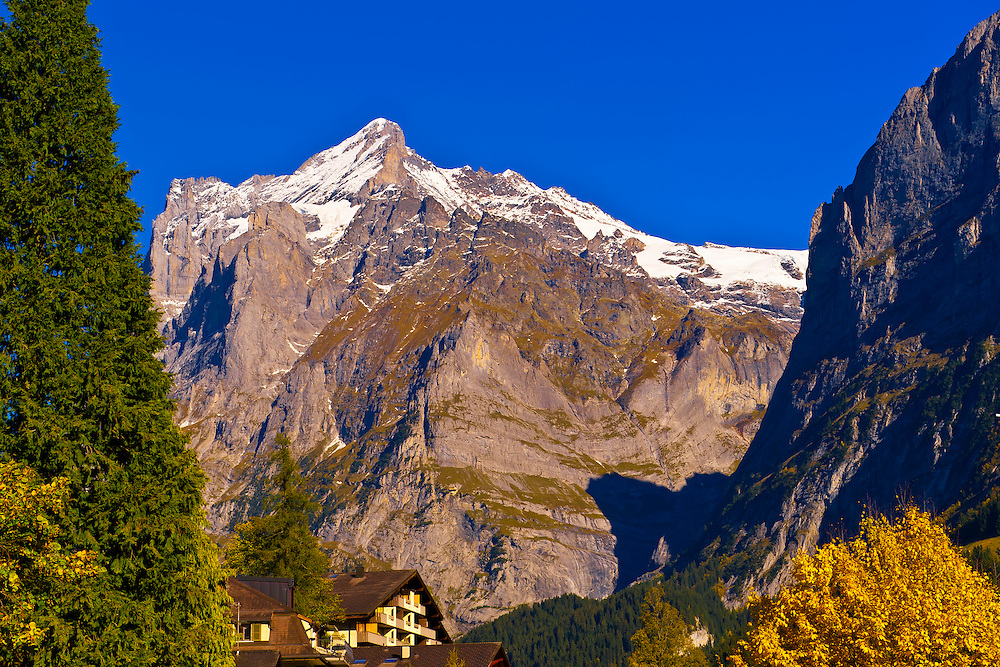 Wetterhorn from Grindelwald, Canton Bern, Switzerland