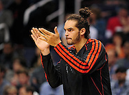 Nov. 14, 2012; Phoenix, AZ, USA; Chicago Bulls center Joakim Noah (13) the ball during the game against the Phoenix Suns at the US Airways Center. The Bulls defeated the Suns 112-106 in overtime. Mandatory Credit: Jennifer Stewart-USA TODAY Sports