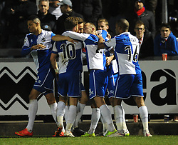 Bristol Rovers' Matt Taylor celebrates his goal. - Photo mandatory by-line: Dougie Allward/JMP - Mobile: 07966 386802 - 20/03/2015 - SPORT - Football - England - Memorial Stadium - Bristol Rovers v Aldershot - Vanarama Football Conference