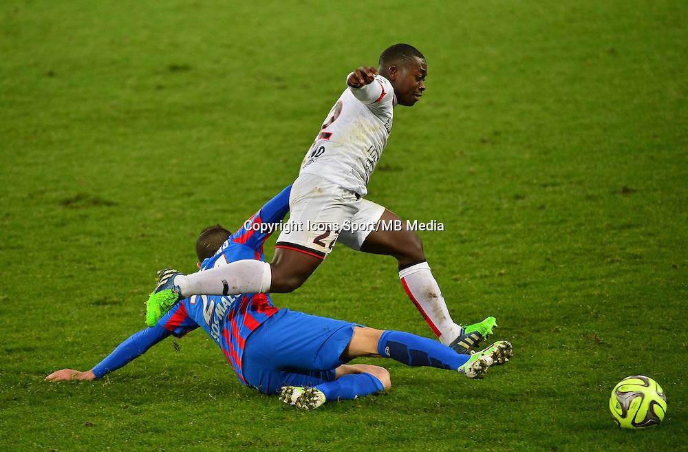 Nampalys MENDY / Florian RASPENTINO - 05.12.2014 - Caen / Nice - 17eme journee de Ligue 1 -<br />Photo : Dave Winter / Icon Sport