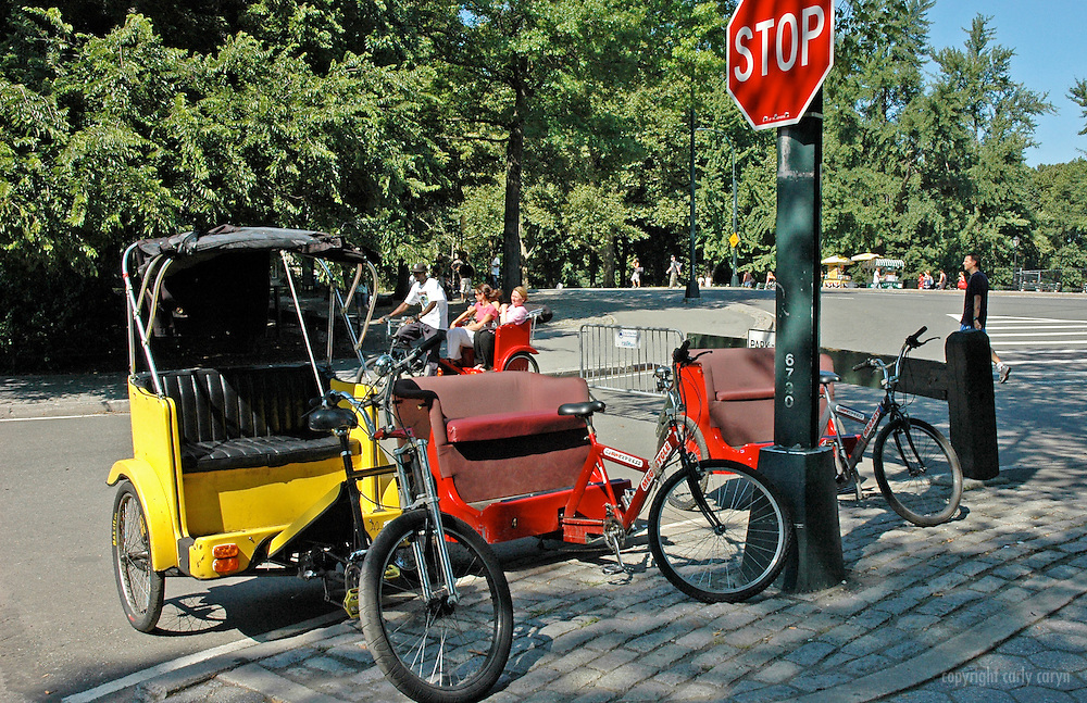 Parked pedicabs