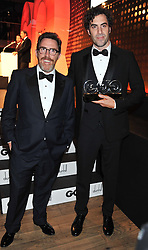 Left to right, ROB BRYDON and SACHA BARON COHEN winner of the Comedian of The Year Award at the GQ Men of The Year Awards 2012 held at The Royal Opera House, London on 4th September 2012.