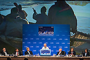 August 31, 2015: Mayor of the Northwest Arctic Borough of Alaska, Reggie Joule, addresses attendees during the opening plenary of the Global Leadership in the Arctic Cooperation, Innovation, Engagement & Resilience conference.