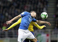 November 13, 2017 - Milan, Italy - Matteo Darmian during the playoff match for qualifying for the Football World Cup 2018  between Italia v Svezia, in Milan, on November 13, 2017. (Credit Image: © Loris Roselli/NurPhoto via ZUMA Press)
