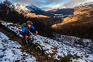 Michael Pritchard tackles stage one of the Kinlochleven Enduro.