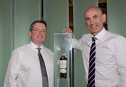 EMBARGOED: 00.01 TUE 22052018 Scott McCroskie (left), managing director, the Macallan, and Ian Curle, chief executive of Edrington Group, owner of The Macallan, at the new distillery and visitor centre on the Easter Elchies Estate, Speyside. Pic copyright Terry Murden @edinburghelitemedia EMBARGOED: 00.01 TUE 22052018