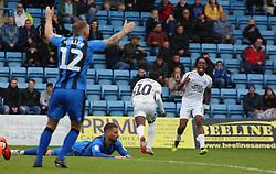 Siriki Dembele of Peterborough United celebrates scoring his goal - Mandatory by-line: Joe Dent/JMP - 22/09/2018 - FOOTBALL - Medway Priestfield Stadium - Gillingham, England - Gillingham v Peterborough United - Sky Bet League One