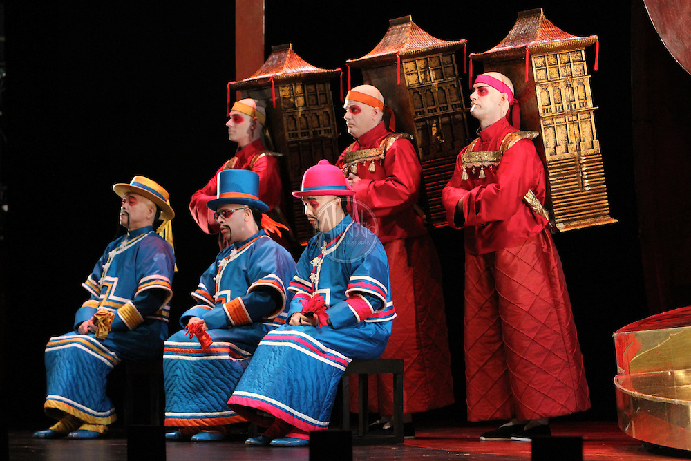 Seattle Opera Turandot Gold Cast Dress  Ping, Pang, Pong.